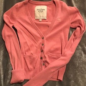 Pink Abercrombie & Fitch cardigan